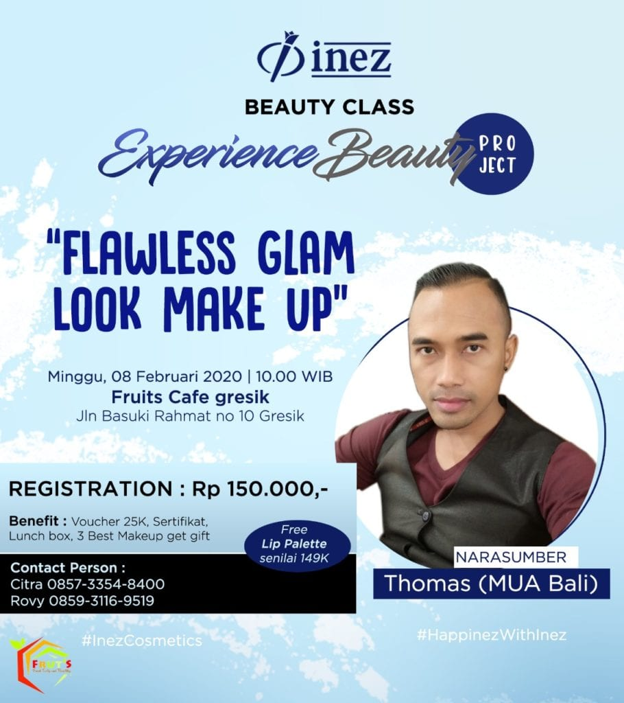 Experience Beauty Project - Flawless Glam Look Make Up with Thomas (MUA Bali)