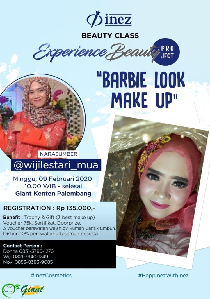 Experience Beauty Project - Barbie Look Make Up with @wijilestari_mua