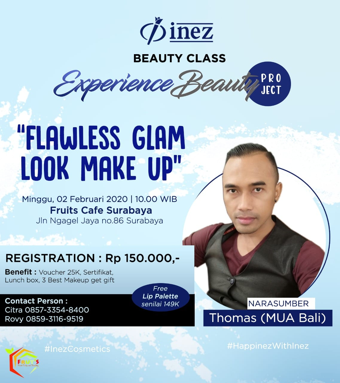 Experience Beauty Project – Flawless Glam Look Make Up with Thomas (MUA Bali)