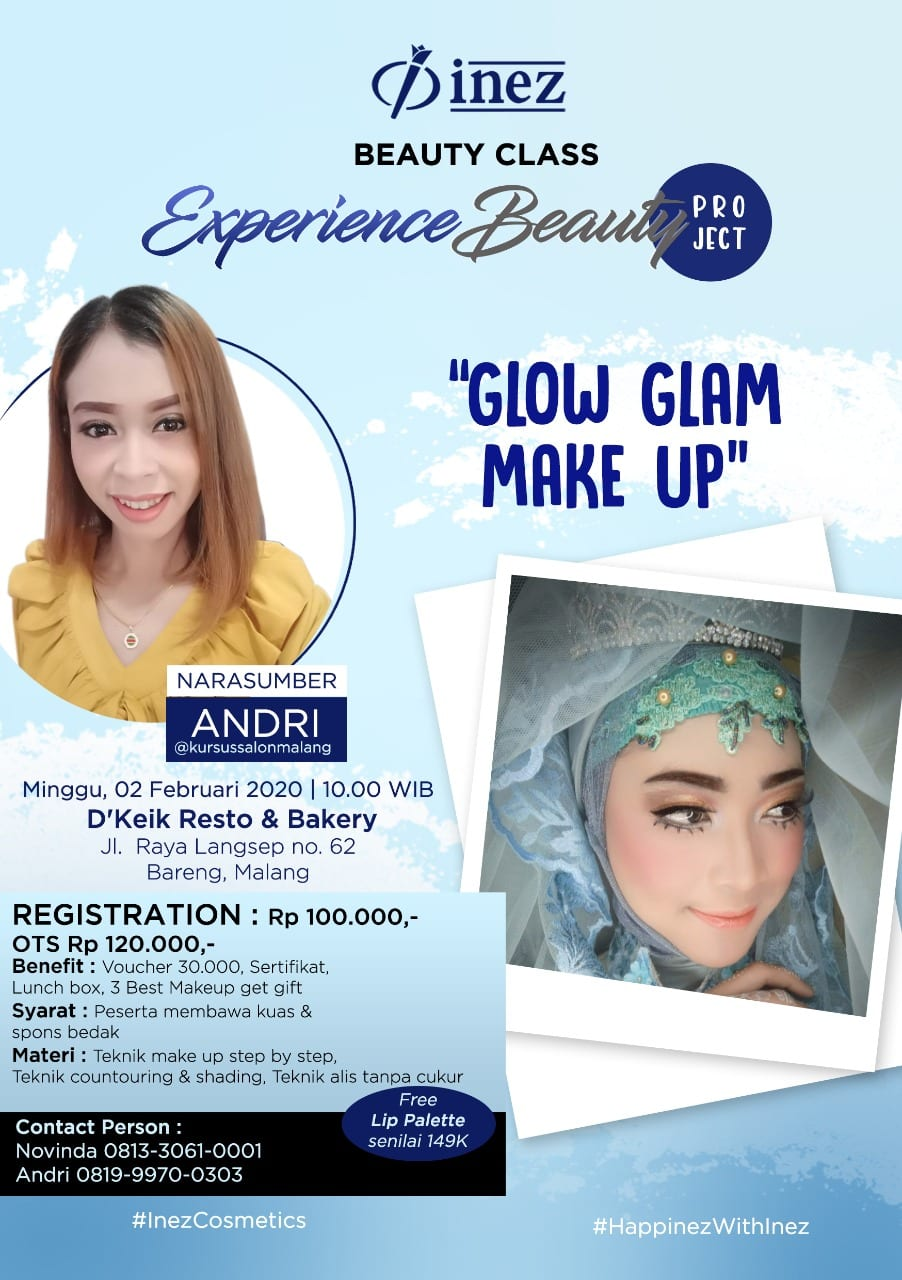 Experience Beauty Project – Glow Glam Make Up with Andri