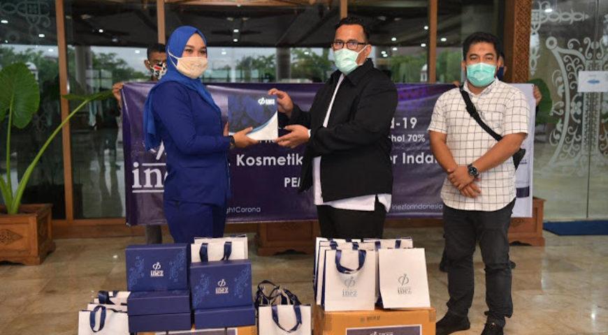 Perusahaan Kosmetik Bantu Hand Sanitizer Buat Tenaga Medis di Aceh