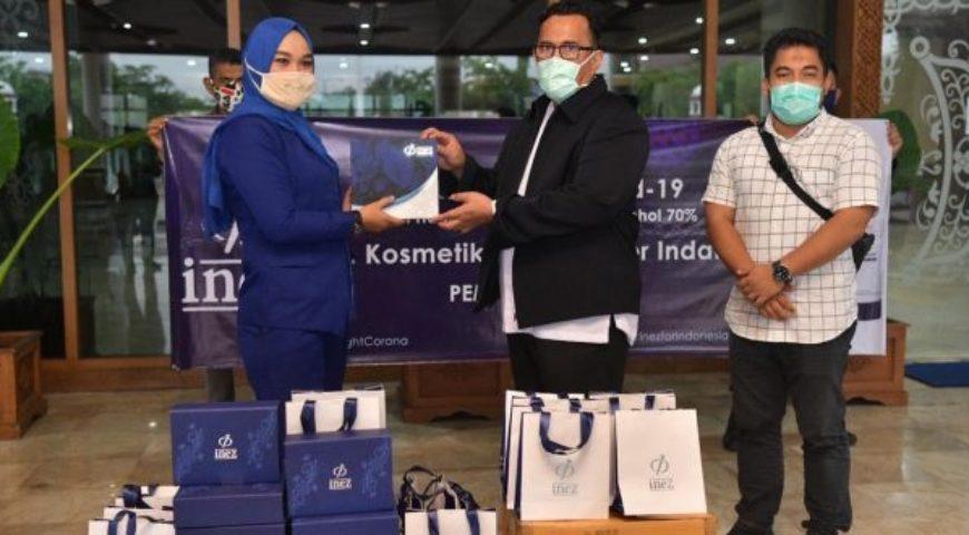 Perusahaan Kosmetik Ini Bantu Hand Sanitizer Buat Tenaga Medis di Aceh