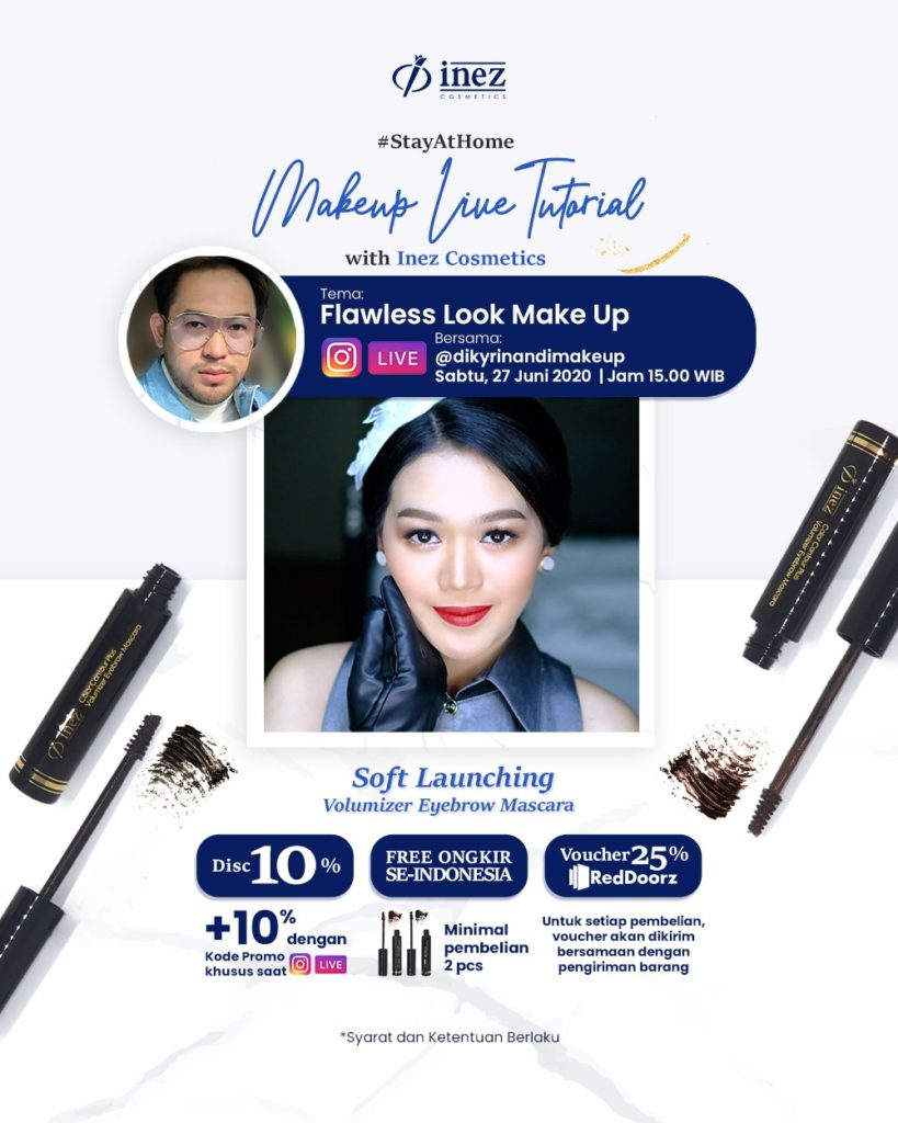 Make Up Live Tutorial with Inez Cosmetics and Diky Rinandi - Flawless Look Make Up