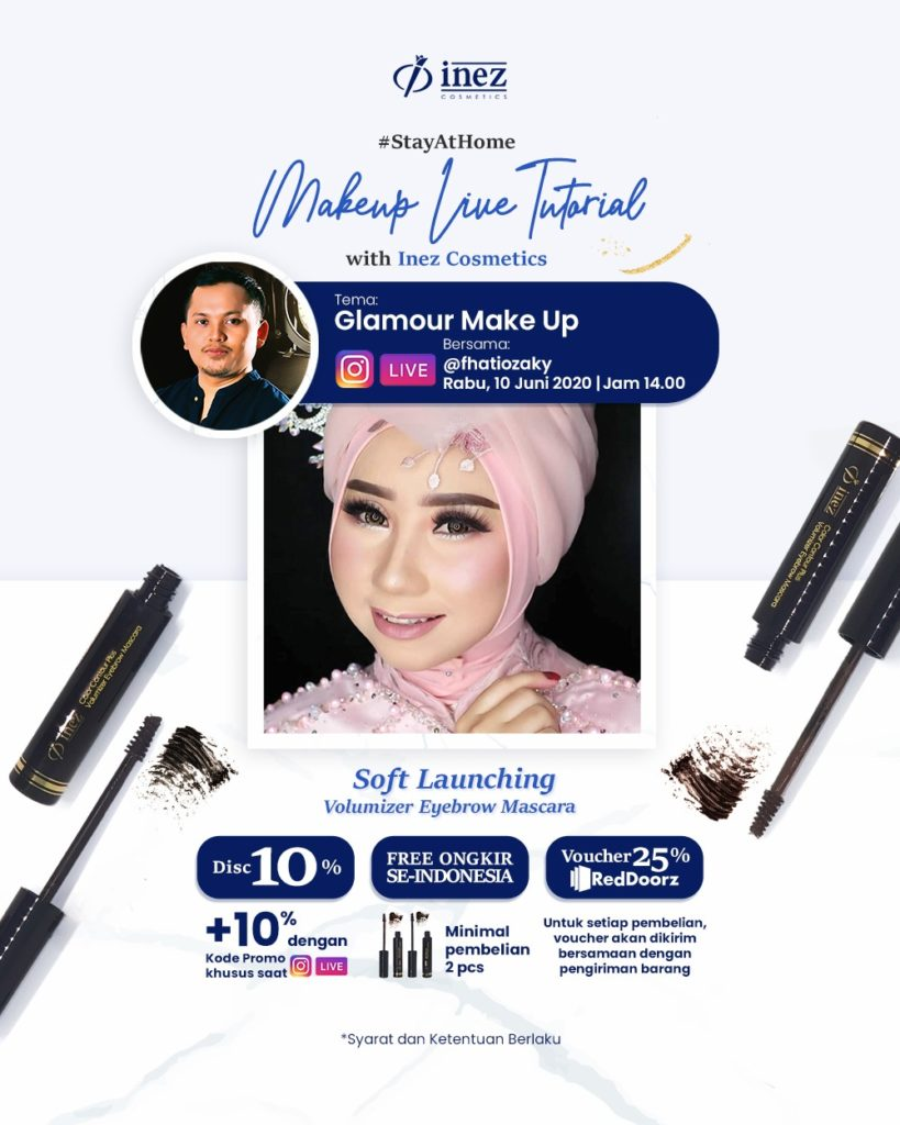 Make Up Live Tutorial with Inez Cosmetics – Glamour Make Up
