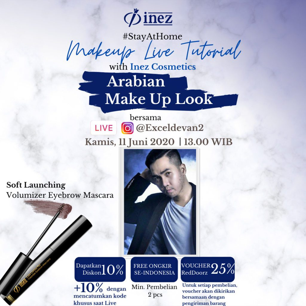 Make Up Live Tutorial with Inez Cosmetics – Arabian Make Up Look