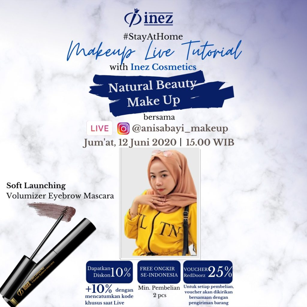 Make Up Live Tutorial with Inez Cosmetics – Natural Beauty Make Up