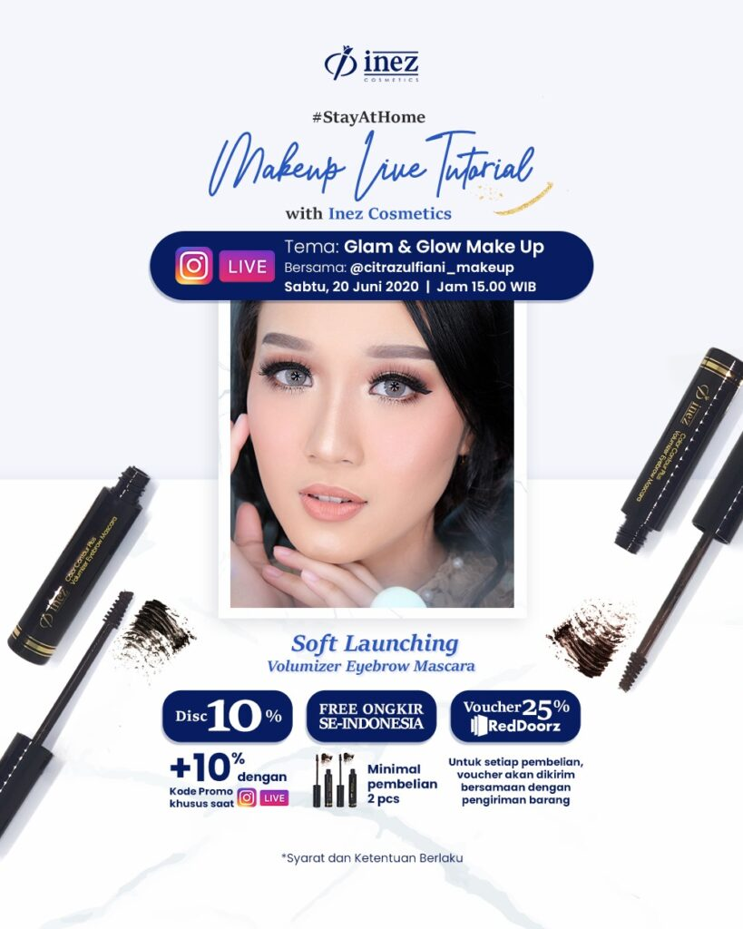 Make Up Live Tutorial with Inez Cosmetics – Glam & Glow Make Up
